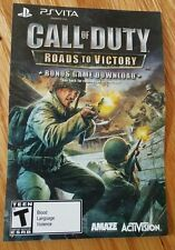 PS Vita Call Of Duty Roads To Victory Full Game Card Only working