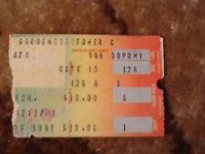 RARE YES Ticket Stub Madison Square Garden 1980 Original Steve Howe Chris Squire