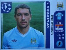 PANINI 43 Aleksandar Kolarov Manchester City UEFA CL 2011/12