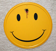 "Smile Happy Smiley Face 12"" Round Metal Signs Man Cave Garage Home Dorm Decor"