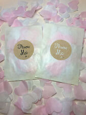 Glassine Bags Throw Me Stickers Pink & White Biodegradable Confetti Hearts Eco