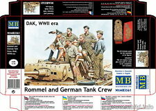 Master Box 1/35 WWII DAK Rommel and German Tank Crew (6 Figures)