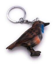 Blaukehlchen Vogel Blau Holz Edel Handmade Schlüsselanhänger Anhänger