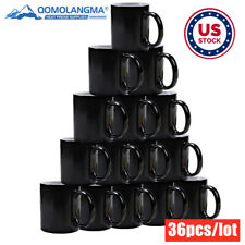 36pcs 11oz Plain Sublimation Color Changing Mugs Magic Cup Full Color Changing