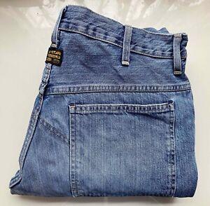 #Vintage# G-STAR Original Raw Denim Vintage Jeans Hose ELWOOD 5620 W33 L36, blau