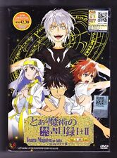 *NEW* TOARU MAJUTSU NO INDEX SEASONS 1 & 2 *48 EPS*ENG SUB*US SELLER*ANIME DVD*
