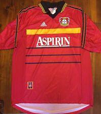 Adidas Bayer Leverkusen Home 1998-2000 Soccer Jersey Trikot Men's XL Germany #3