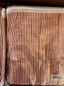 C&F STRIPE PINK, CORAL, RED, BEIGE  TWIN BEDSKIRT DUST RUFFLE - New. 2 available