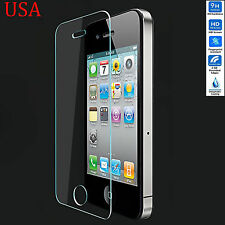 Premium Real Tempered Glass Film Guard Screen Protector for Apple iPhone 4 4S