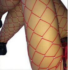 Women Crystal Rhinestone Fishnet Elastic Stockings Big Fish Net Tights Pantyhose