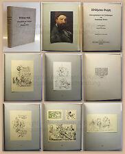 Slevogt Wilhelm Busch Bildergeschichten und Zeichnungen 1928 rara Ex. 384 xz