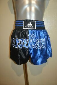Boxing Shorts Thai ADIDAS Size XL/190 Mma Kickboxing Free Fight New Blue