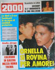 NOVELLA 2000 20 1979 Ornella Muti Califano Renato Zero Di Lazzaro Patty Pravo