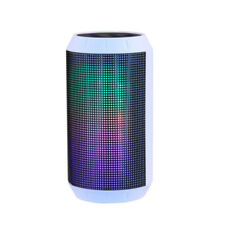 Laser BT540 Bluetooth Wireless Portable Speaker with LED Lights and FM Radio