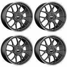 4 x BBS CH-R Satin Anthracite/Stainless Rim Alloy Wheels - 5x112|18x8.5 "