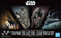 Star Wars: The Last Jedi 1/144 1/350 1/540 Clear Vehicle Model Kit Bandai Hobby