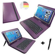"""Deutsche Tastatur Hülle Motorola Xoom 10.1 """" Tablet Tasche Qwertz 10 Zoll Lila"""