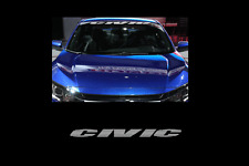 "Civic Windshield Banner Sticker Decal 36"" Honda jdm civic si turbo vtec"