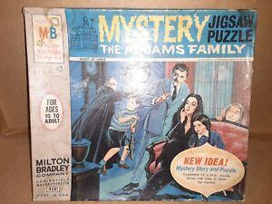 The Addams Family Milton Bradley 1965 Mystery Jigsaw Puzzle Box (EMPTY)