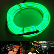 Green Car Panel Gap Interior Trim Light Cold EL Neon Lamp Atmosphere OLED Strip