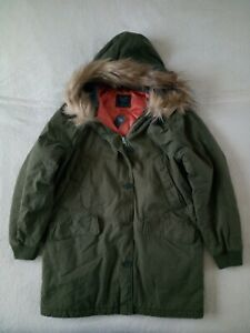 Womens Abercrombie & Fitch Quilted Parka Hoodie Jacket Size XL