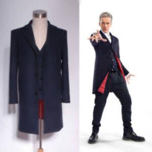 Doctor Who 12th Dr. Dark Blue Coat Vest Shirts Set Cosplay Costume Custom Made