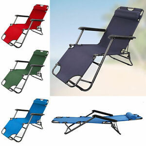 Outdoor Folding Garden Pool Lawn Sun Lounger Beach Sun Patio Lounge Chair