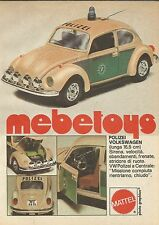 X9239 Polizei Volkswagen Mebetoys - Pubblicità 1977 - Advertising