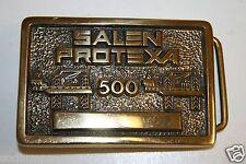 Salen Protexa 500 Drilling Co. Vintage High End Solid Brass Belt Buckle Rare