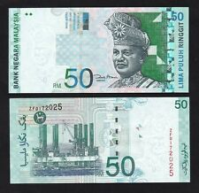 Malaysia 50 Ringgit #ZF Last Prefix Replacement banknote (2001) P43d - UNC