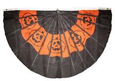 Wholesale Lot 2 Pack 3x5 Happy Halloween Pumpkin Bunting Fan Flag 3'x5'