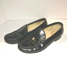 SAS Penny Men's Slip On Loafers Size 9.5M Genuine Leather Black