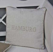 Cojín 45x45cm HAMBURG Blanco Beige Cojines Asiento Relleno Decorativo