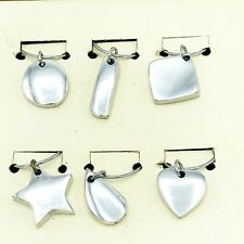Set of Six Pottery Barn Barona Wine Charms