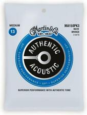 3-PACK! Martin MA150 Authentic Acoustic SP 80/20 MEDIUM Guitar Strings MA150PK3