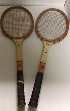 2 Vintage Wooden Wilson Jack Kramer Autograph Tennis Rackets Speed Flex (AS IS)