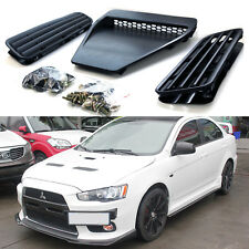 Black Bonnet Hood Scoop Intake Vent Cover for 08-15 Lancer GTS EVO 10 X GSR
