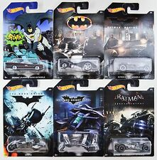2015 2017 Hot Wheels: Walmart BATMAN Batmobile SERIES - Complete Set of 6 Cars