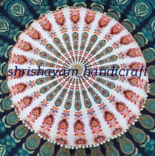 Bohemian Round Floor Cushion Mandala Large Sofa Pillow Seating Cover Decor Art