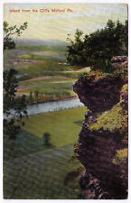1901-07 Milford PA Island From The Cliffs Pike Co. Armstrong UDB RARE Postcard