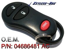 02-05 DODGE RAM KEYLESS ENTRY REMOTE OEM KEY FOB P/N: 04686481 AC GQ43VT17T