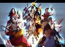 """Avatar The Legend of Korra Poster anime Art Silk Wall Poster 12x20"""" AVT8.1"""