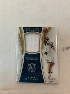 Deron Williams 2015-16 Immaculate Jersey Card #ST-DWL Serial #35/75