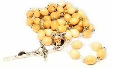Relic Rosary 3rd class St Leopold Mandic patron disabled handicaped ppl wooden