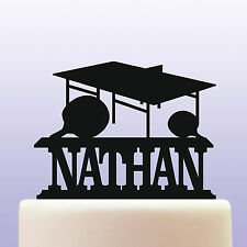 Personalised Acrylic Table Tennis Birthday Cake Topper Decoration & Keepsake