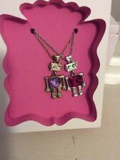 $35 Betsey Johnson 2015 Holiday  Gift Collection Robot Pendant Necklace E13