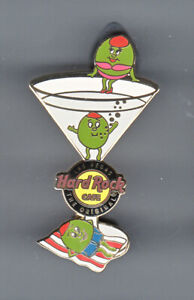 Hard Rock Cafe Pin: Las Vegas the Original Martini Glass with Olives le300