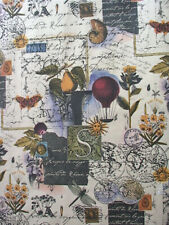 """Provence Gift Wrap - Collage Print Wrapping Paper - 30"""" x 5' Roll"""