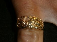 10K SOLID YELLOW & ROSE GOLD BLACK HILLS RING - SIZE 6  - 2.82 GRAMS