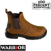 Pro Tradesman Farmers Mechanics Builders Brown Leather Dealer Work Safety Boots